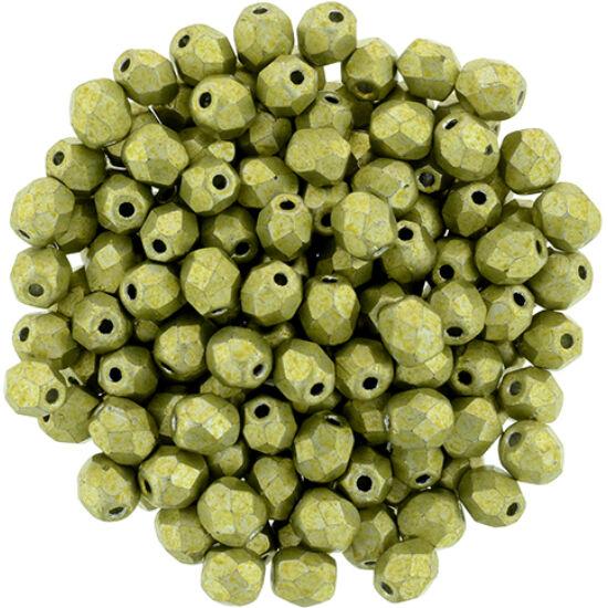 Csiszolt gyöngy - 4mm - Saturated Metallic Primrose Yellow - 77058CR