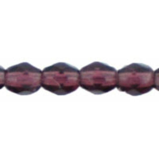 Csiszolt gyöngy - 4mm - Dk Amethyst - 20080
