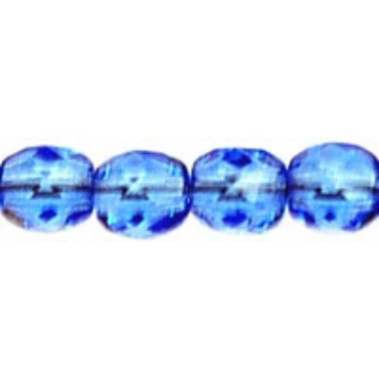 Csiszolt gyöngy - 4mm - Sapphire - 30040