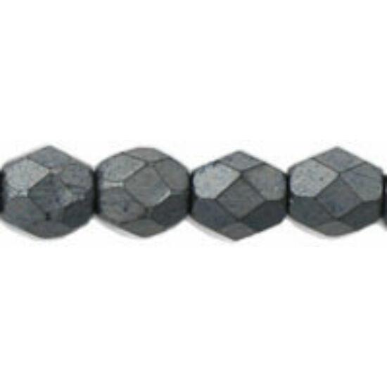 Cseh Csiszolt - 4mm - Matte - Hematite - 84400JT