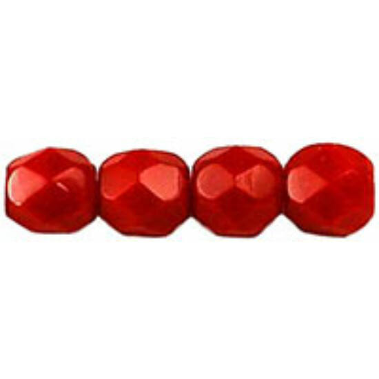 Cseh Csiszolt - 4mm - Opaque Red