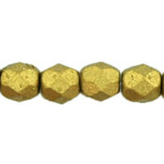 Cseh Csiszolt - 4mm - Matte - Metallic Aztec Gold - K0172JT