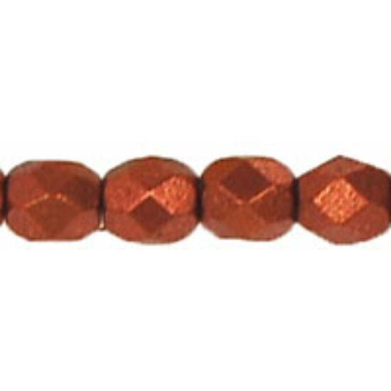 Cseh Csiszolt - 4mm - Matte - Metallic Dk Copper - K0175