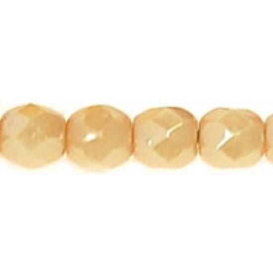 Csiszolt gyöngy - 4mm - Luster - Opaque Champagne - LC02010