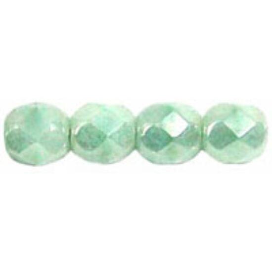 Csiszolt gyöngy - 4mm - Luster - Opaque Azure Turquois