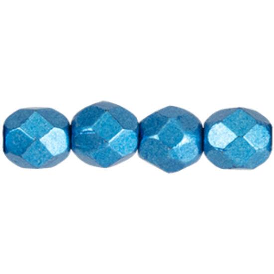 Cseh Csiszolt gyöngy - 4mm - Saturated Metallic Nebulas Blue - 06B03