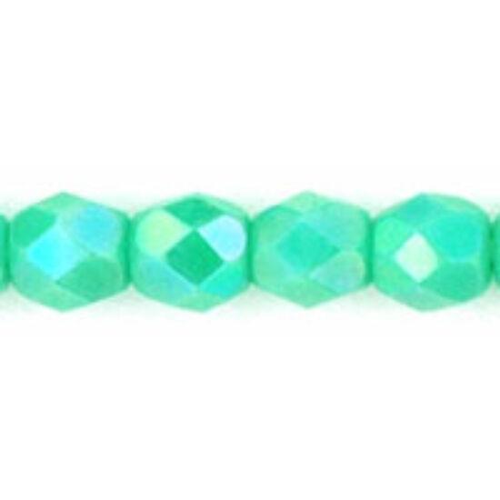 Csiszolt gyöngy- 4mm- Opaque Turquoise AB
