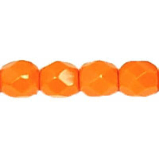 Cseh Csiszolt - 4mm  - Opaque Orange - 93120