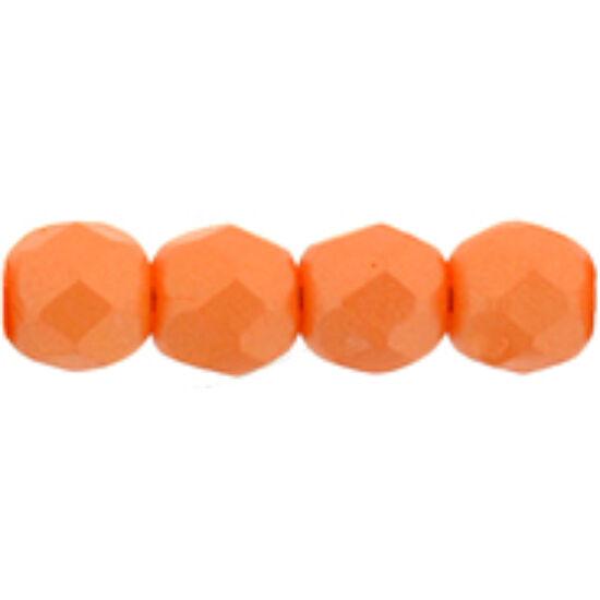 Csiszolt gyöngy - 4mm - Powdery - Orange - 29374AL