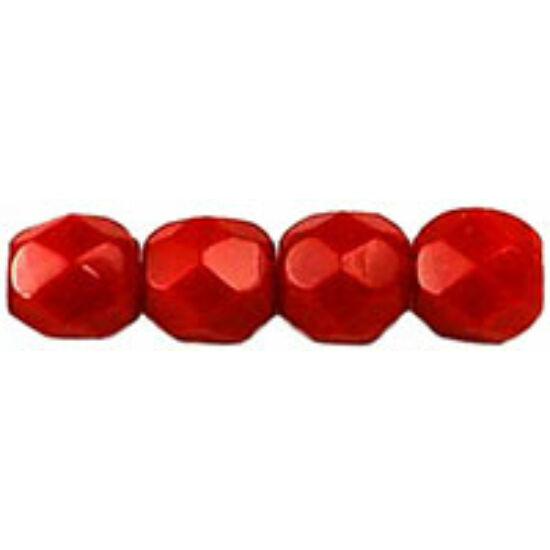 Cseh Csiszolt - 4mm  - Opaque Red - 93200