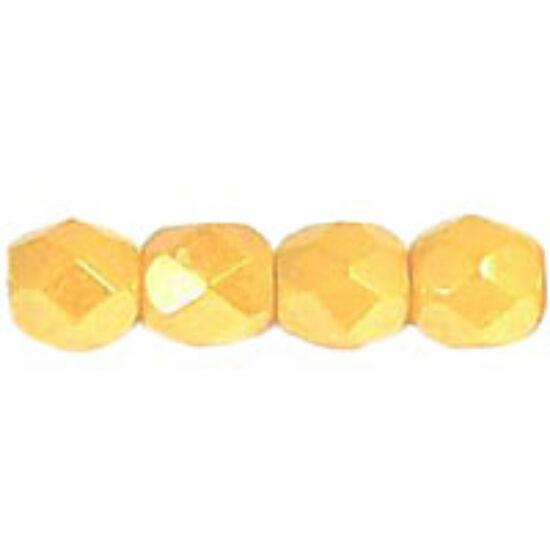 Cseh Csiszolt - 4mm - Luster - Opaque Yellow - L83120a