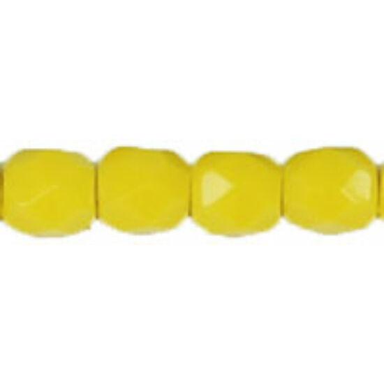 Cseh Csiszolt - 4mm - Opaque Yellow - 83120