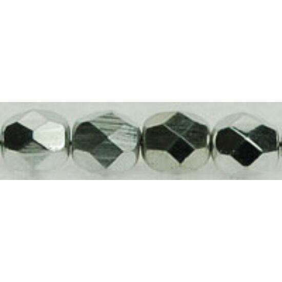 Csiszolt gyöngy - 6mm - Ezüst