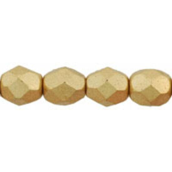 Csiszolt gyöngy - 6mm -  Matte - Metallic Flax