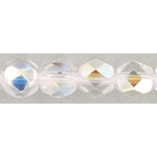 Csiszolt gyöngy - 6mm - Crystal AB