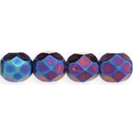 6mm Iris - Blue-Cseh csiszolt gyöngy