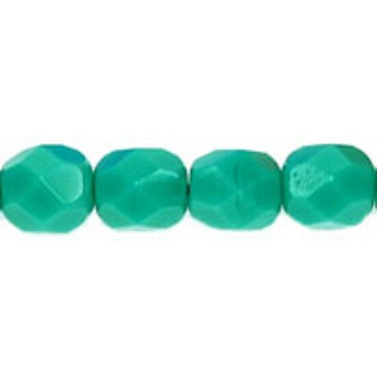 Cseh csiszolt gyöngy- 6 MM- Milky Green