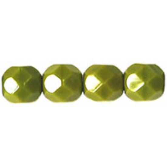 Csiszolt gyöngy - 6mm - Opaque Olive