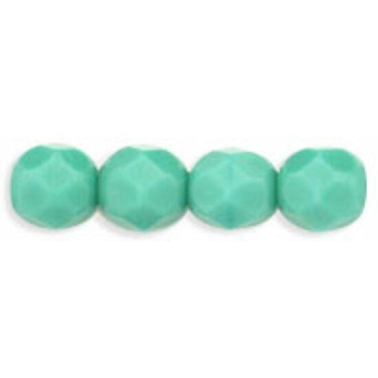 Csiszolt gyöngy - 6mm - Opaque Turquoise - 63130