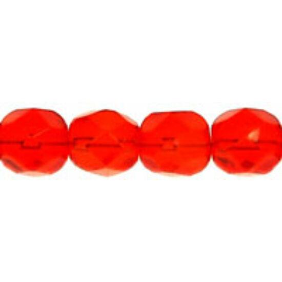 Csiszolt gyöngy- 6mm- Siam Ruby