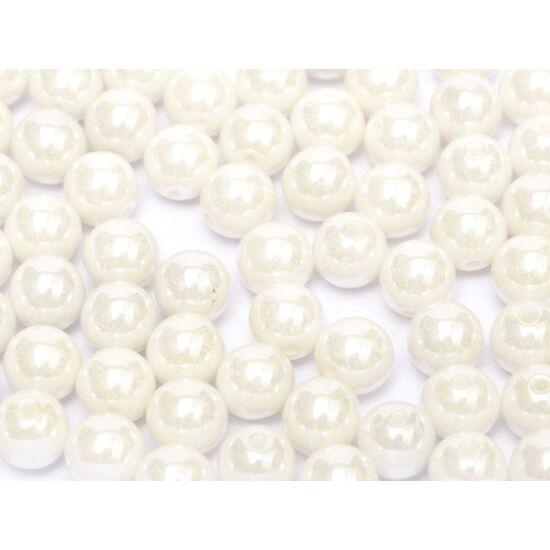 Cseh Préselt Gyöngy - 8 mm - Chalk White Shimmer