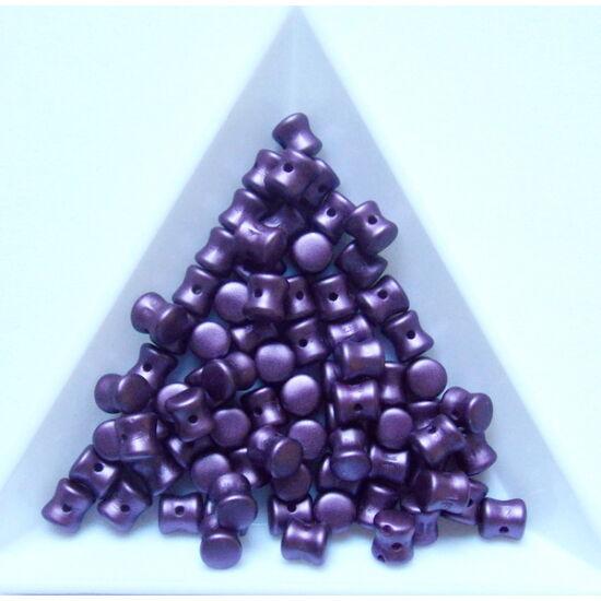 4x6mm Pasztell Bordeaux színű, Diabalo/Pellet gyöngy