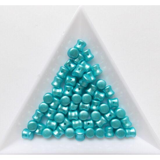 4x6mm Pasztell Türkiz színű, Diabalo/Pellet gyöngy