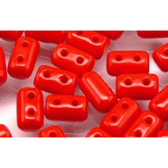 3x5mm Telt Piros színű, Rulla gyöngy