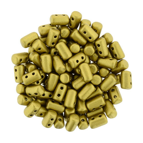 Rulla gyöngy - 3x5mm -  Matte - Metallic Aztec Gold