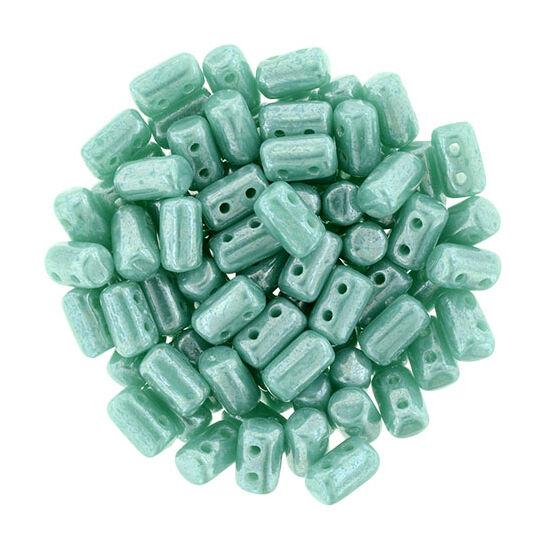 Rulla gyöngy -3x5mm Csillogó Türkiz Zöld