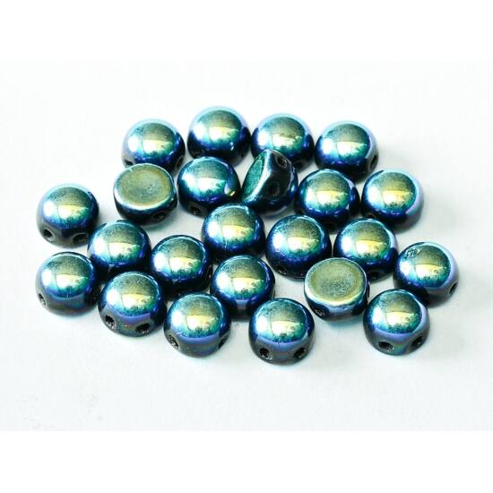 2-LYUKÚ CABOCHON - 6 MM - JET FULL AB - 23980/28703