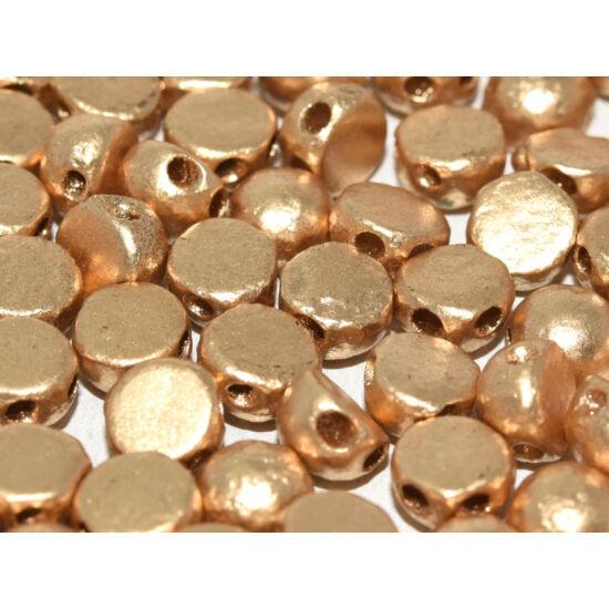 2-LYUKÚ CABOCHON - 6 MM - ETCHED AZTEC GOLD - 01710E