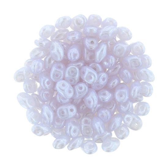 2,5x5mm Luster - Opal Dk Violet, Superduo gyöngy