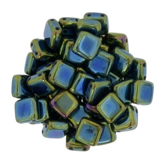 Tile gyöngy, 6x6mm Luster - Iris Green