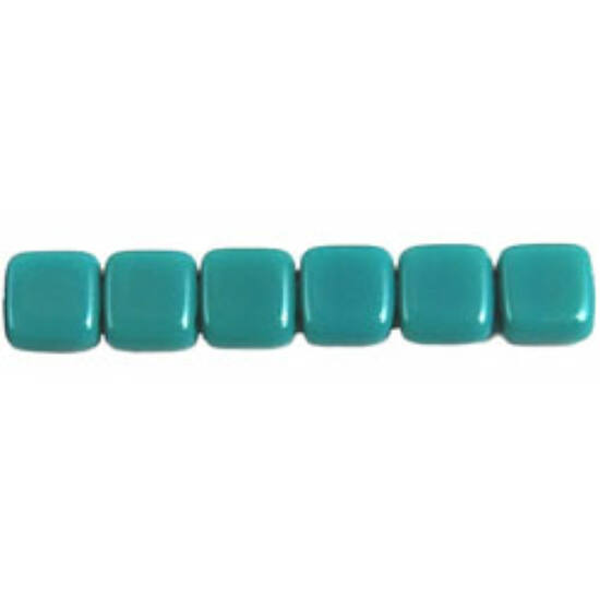 Tile gyöngy, 6x6mm Opaque - Turquoise