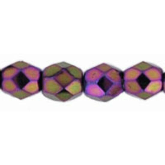 Cseh Csiszolt Gyöngy - 3 mm - Iris - Purple - 21495JT