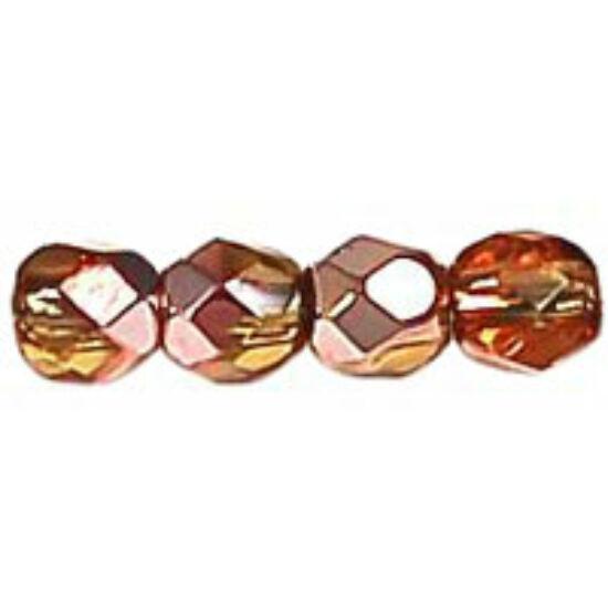 Cseh Csiszolt - 3mm - Copper - Med Topaz - C10040