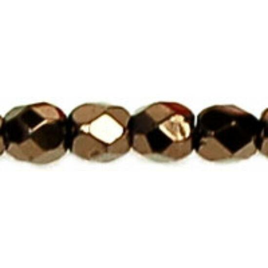 Csiszolt gyöngy - 3mm - Metallic Bronze