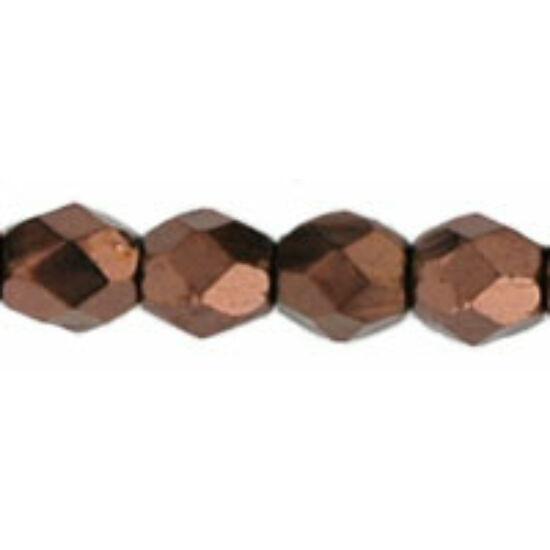 3mm Sötét Bronz színű, cseh csiszolt gyöngy
