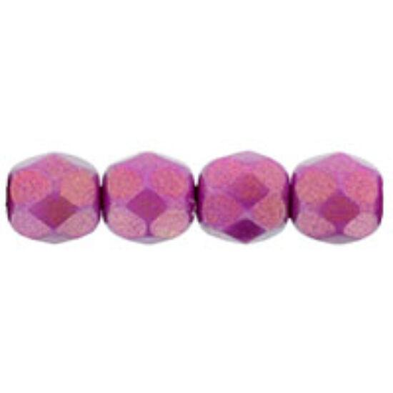 4mm-es Csillogó,Légies,Rózsa színű,cseh csiszolt gyöngy