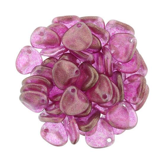 8x7mm Fényes Rózsaszín színű, Petal gyöngy