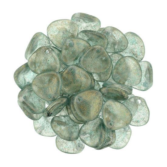 8x7mm Fényes Égbolt -kék színű, Petal gyöngy