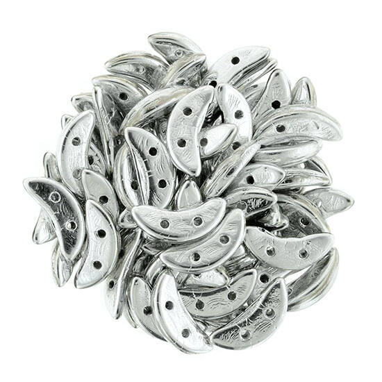 10x4mm Ezüst színű Félhold gyöngy