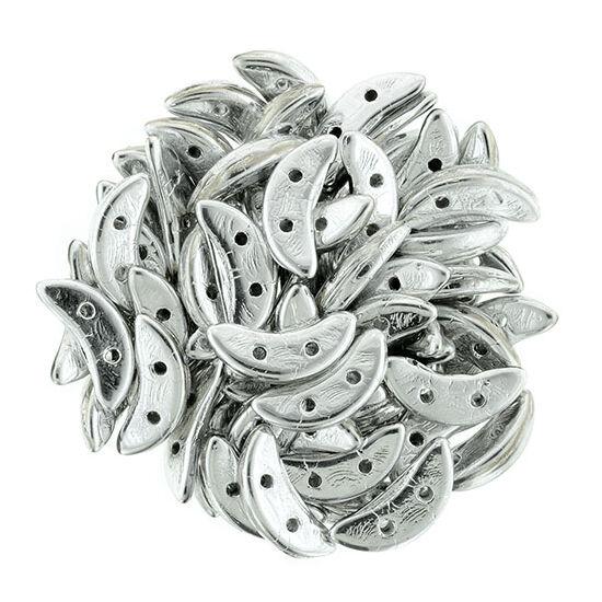 Félhold gyöngy - 10x4mm - Silver - S00030