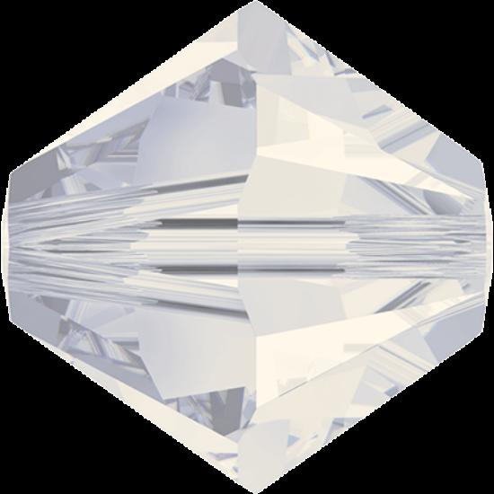 Swarovski Bicone - 4mm - White Opal Shimmer 2x - 5328
