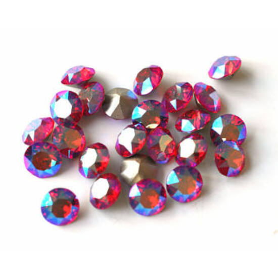 Swarovski Chaton - 8mm - LIGHT SIAM SHIMMER- F - xirius