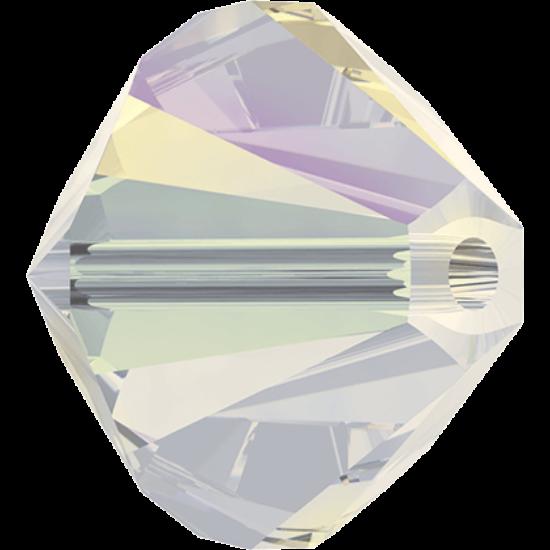 Swarovski Bicone - 3mm - White Opal Shimmer 2x - 5328