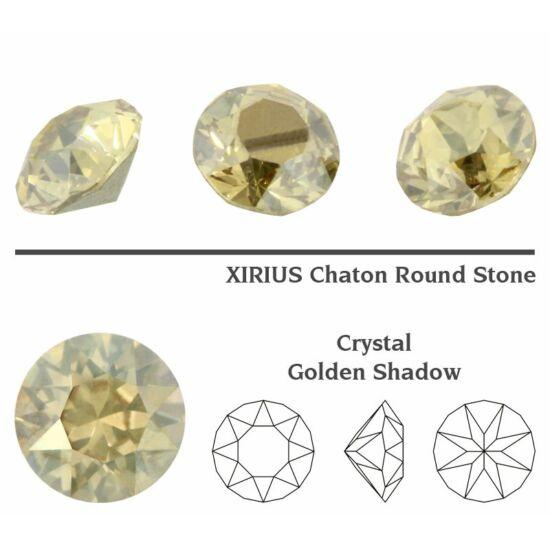 Swarovski Chaton - 8mm - Crystal Golden Shadow - 1088
